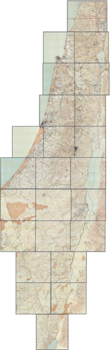 Survey of Palestine 1942-1958 1-100,000 sheet index.png