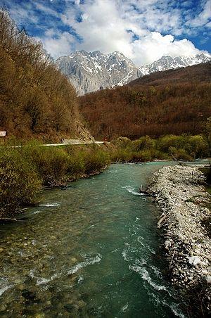 Sutjeska (river) - Sutjeska River - before entering Sutjeska River canyon