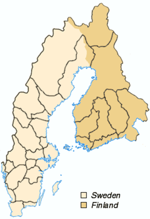 Provinces of Sweden - Sweden's provinces from 1658 to 1809