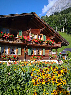 Chalet - A typical chalet in the Swiss Alps