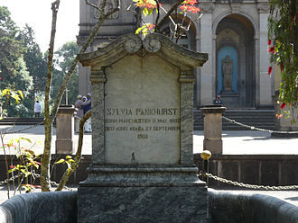 Sylvia Pankhurst - Pankhurst's grave