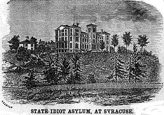 Syracuse State School - Syracuse State Idiot Asylum on Wilbur Avenue in Syracuse, New York about 1855