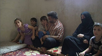 Syrian Civil War - Syrian refugees in Lebanon living in cramped quarters (6 August 2012)