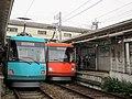 Tōkyū 310 & 309 at Yamashita Station.jpg