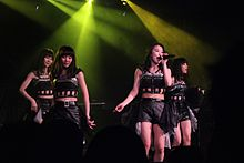 Japanese idol group TOKYO GIRLS' STYLE perform at the 2015 HYPER JAPAN summer festival.