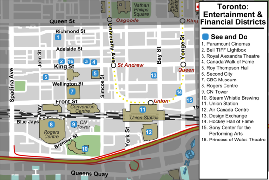 TorontoEntertainment And Financial Districts  Travel