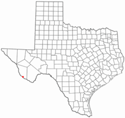 Location of Redford, Texas