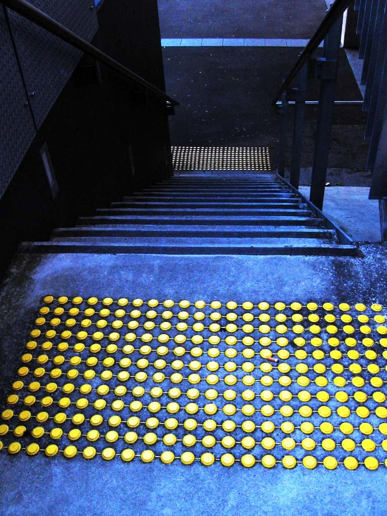 Tactile markings stairs for visually impaired