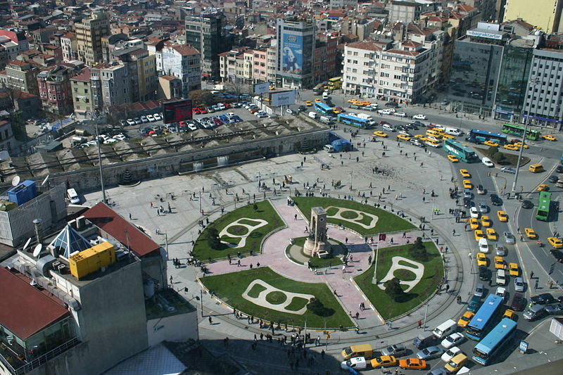 Vista aérea de la Plaza de Taksim