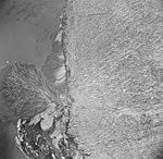 Taku Glacier, terminus of tidewater glacier and braided streams, August 23, 1964 (GLACIERS 6139).jpg