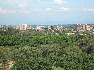Talca - Downtown as seen from Cerro La Virgen.