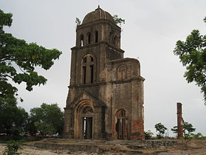 Remains of Tam Toa Church, which was destroyed by US bombardment during Vietnam War in Dong Hoi. TamToa.jpg
