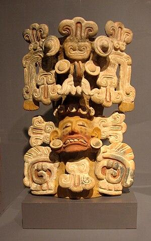 Tarascan state - Image: Tarascan incense burner w Tlaloc headdress