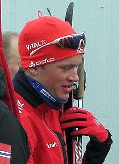 Tarjei Bø Norwegian biathlete