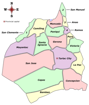 Tarlac Labelled Map.png