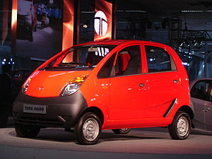 Tata NANO at the Auto Expo 2008
