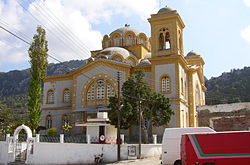 The current mosque and former church in Akanthou