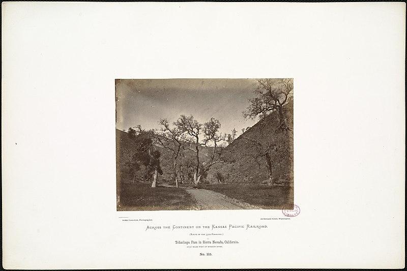 File:Tehachapa Pass in Sierra Nevada, California. 1,730 miles west of Missouri River. (Boston Public Library).jpg