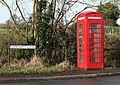 Telephone Box at the corner of A422 and Cockshot Lane, Dormston - geograph.org.uk - 337482.jpg