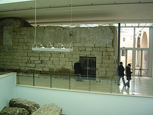 Temple of Jupiter Optimus Maximus - Podium wall in the basement of the Musei Capitolini