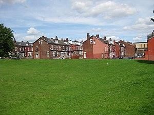 East End Park, Leeds - Image: Terraces in East End Park 13 August 2017