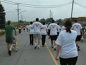 Terry Fox Run - 2006 Terry Fox Run in Bowmanville, Ontario, Canada