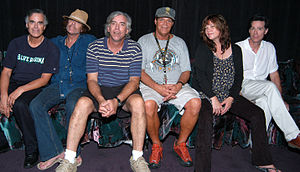 The Cowsills - The Cowsills from their Billy Cowsill Benefit Concert in 2004. Left to right: Bob, Barry, Paul, Richard, Susan and John (Bill not pictured)