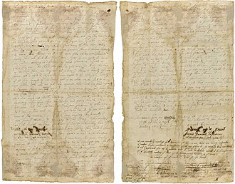 1688 Germantown Quaker Petition Against Slavery - The petition was the first American public document to protest slavery. It was also one of the first written public declarations of universal human rights.