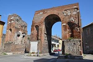 Arch of Hadrian (Capua) - Arch of Hadrian in ancient Capua