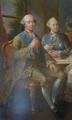 The Duke of Penthièvre with his son Lamballe (detail) by Jean-Baptiste Charpentier le Vieux.png
