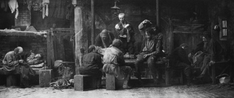 The Lower Depths - Acting scene from the world premiere 1902 in Moscow, act 2
