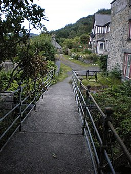 The Mill footbridge, Trefriw - geograph.org.uk - 1441894