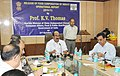 The Minister of State (Independent Charge) for Consumer Affairs, Food and Public Distribution, Professor K.V. Thomas addressing at the release of the Operational Report of FCI for the year 2010-11, in New Delhi.jpg