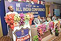 The Minister of State for Home Affairs, Shri Hansraj Gangaram Ahir addressing at the 19th All India Conference of Directors of Finger Prints Bureaux, in Hyderabad, Telangana on June 21, 2018.JPG