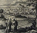 The Phillip Medhurst Picture Torah 591. The allotment to the Levites. Numbers cap 35 vv 4-5. Tyroff.jpg