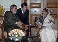 The President, Smt. Pratibha Devisingh Patil with the President of Brazil, Mr. Lula da Silva, in New Delhi on October 15, 2008.jpg
