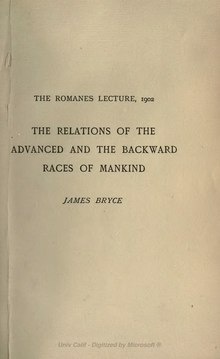The Relations of the Advanced and the Backward Races of Mankind.djvu