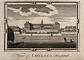 The Royal Hospital, Chelsea; viewed from the Surrey bank wit Wellcome V0012904.jpg