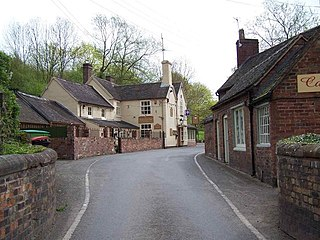 Coalport village in United Kingdom