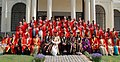 The Speaker, Lok Sabha, Shri Somnath Chatterjee with the Vice Chancellor (DU), Prof. Deepak Pental and the heads of faculties at the Annual Convocation of University of Delhi on March 01, 2009.jpg