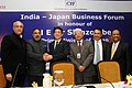 The Union Minister for Commerce & Industry, Shri Anand Sharma and the Prime Minister of Japan, Mr. Shinzo Abe at the Business Meeting, in New Delhi on January 25, 2014.jpg
