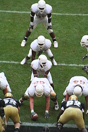 "The 2005 Texas Longhorns in the ""I formation"" against Colorado in the 2005 Big 12 Championship Game"