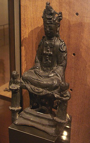 Kakure Kirishitan - The Virgin Mary disguised as Kannon, Kirishitan cult, 17th-century Japan. Salle des Martyrs, Paris Foreign Missions Society.