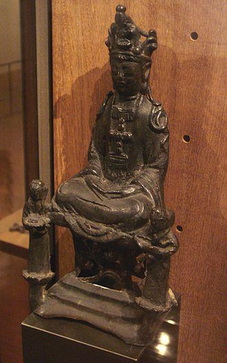 Kakure Kirishitan - The Virgin Mary disguised as Kannon, Kirishitan cult, 17th-century Japan. Salle des Martyrs, Paris Foreign Missions Society.