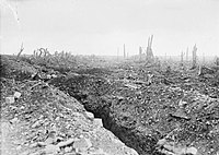 The badly shelled main road to Bapaume.jpg
