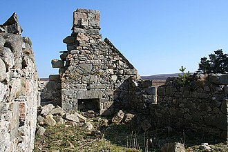 Hearth tax - Derelict cottage hearth in Scotland