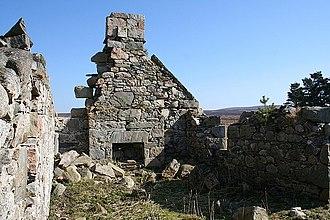 Hearth tax - Derelict cottage hearth in Scotland