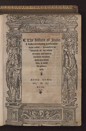 William Thomas (scholar) - The historie of Italie, 1549