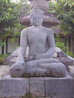 Sanghyang Adi Buddha - The unfinished buddha statue of the main stupa of Borobudur Temple at Karmawibhangga Museum