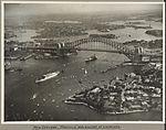 The ships New Zeeland and Manunda passing under Sydney Harbour Bridge, 19 March 1932 (6174058644).jpg
